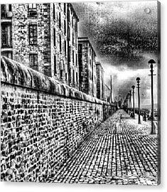 #albertduck #liverpool #sky #cloudy Acrylic Print