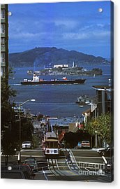 Alcatraz From San Fran Hilltop Acrylic Print by Paul W Faust -  Impressions of Light