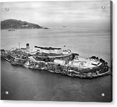 Alcatraz Island And Prison Acrylic Print by Underwood Archives