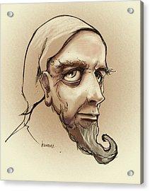 Alchemist Sketch Acrylic Print by Dorianne Dutrieux