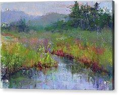 Alder Meadow Morning Acrylic Print