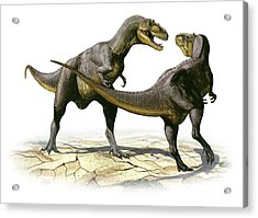 Alectrosaurus Olseni, A Prehistoric Acrylic Print by Sergey Krasovskiy