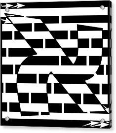 Aleph Maze Acrylic Print by Yonatan Frimer Maze Artist