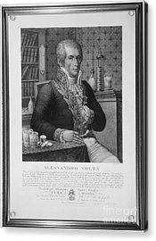 Alessandro Volta, Italian Physicist Acrylic Print by Omikron