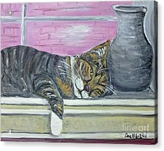 Alex On Windowsill  Acrylic Print