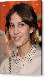Alexa Chung At Arrivals For Inglourious Acrylic Print by Everett