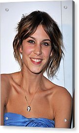 Alexa Chung At Arrivals For The Whitney Acrylic Print by Everett