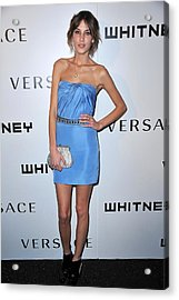 Alexa Chung Wearing A Versace Dress Acrylic Print by Everett