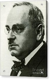 Alfred Adler, Austrian Psychologist Acrylic Print by Science Source