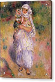 Algerian Woman And Child Acrylic Print by Pierre Auguste Renoir