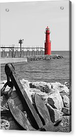 Algoma Lighthouse Is Anchored Acrylic Print