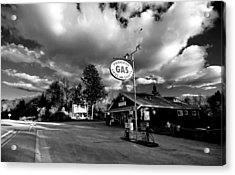 Algonquin Gas Station Acrylic Print by Cale Best
