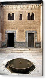 Alhambra Inner Courtyard Acrylic Print by Jane Rix