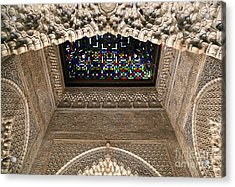 Alhambra Stained Glass Detail Acrylic Print