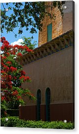 Alhambra Water Tower Windows And Door Acrylic Print