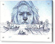 Alice Cries Me A Flood Acrylic Print by Herb Russel