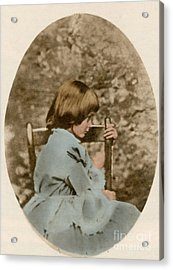 Alice Liddell, Alices Adventures Acrylic Print by Science Source