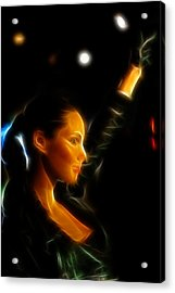 Alicia Keys - Singer Acrylic Print by Lee Dos Santos