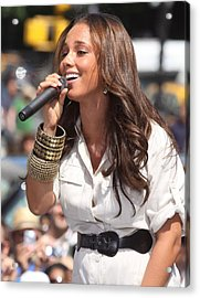Alicia Keys On Stage For Cbs The Early Acrylic Print by Everett