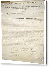 Alien And Sedition Acts Of 1798 Acrylic Print by Everett