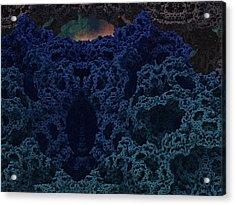 Alien Cave Acrylic Print by Thomas  MacPherson Jr