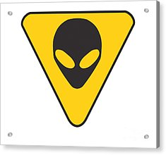 Alien Grey Hazard Graphic Acrylic Print by Pixel Chimp