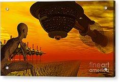 Alien Homecoming Acrylic Print by Nicholas Burningham