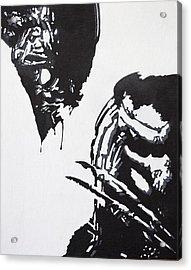 Alien Vs Preditor Acrylic Print by Stephen Ford