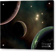 Alien Worlds That Orbit Different Types Acrylic Print by Mark Stevenson