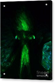 Aliens - First Contact - Green Acrylic Print