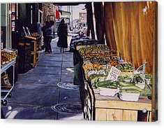 Alioto's Produce Acrylic Print by James Guentner