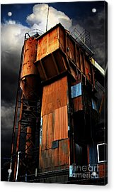 Alive And Well In America . The Old Concrete Plant In Berkeley California . 7d13967 Acrylic Print by Wingsdomain Art and Photography
