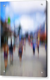 Alive In The City 12 - The Tourists Acrylic Print