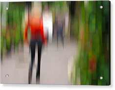 Alive In The City 2 -walking The Dog Acrylic Print