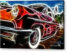 All American Hot Rod Acrylic Print by Paul Ward