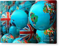 All Around The Globes Acrylic Print by Sophie Vigneault