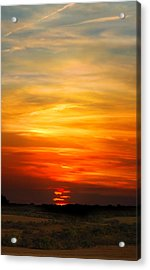 Acrylic Print featuring the photograph All Hallows Eve Sunset by Rod Seel