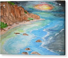 Acrylic Print featuring the painting All Is Calm - Wcs by Cheryl Pettigrew