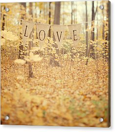 All Is Love Acrylic Print by Irene Suchocki