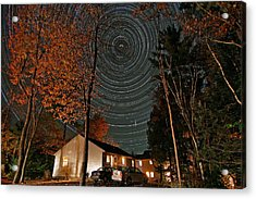 All Night Star Trails Acrylic Print by Larry Landolfi