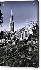 All Saints Wickham Market Acrylic Print by Darren Burroughs