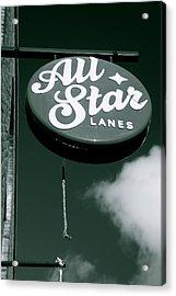 All Star Lanes Acrylic Print by Jez C Self