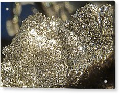 Acrylic Print featuring the photograph All That Glitters Is Definitely Cold by Steve Taylor