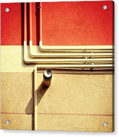 All That Jazz #geometry #color #pipes Acrylic Print