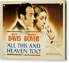 All This And Heaven Too, Charles Boyer Acrylic Print by Everett