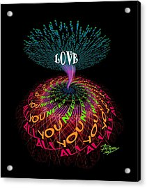 All You Need Is Love B1 Acrylic Print