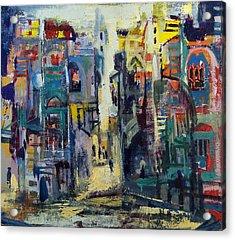Alley In Jerusalem Acrylic Print by Naftali Salomon
