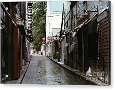 Alley In Old Quebec Acrylic Print by Cedric Hampton