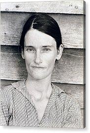 Allie Mae Burroughs, Wife Of Floyd Acrylic Print by Everett