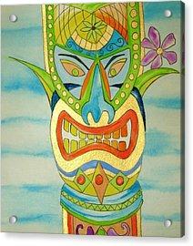 Acrylic Print featuring the painting Aloha Tiki by Erika Swartzkopf